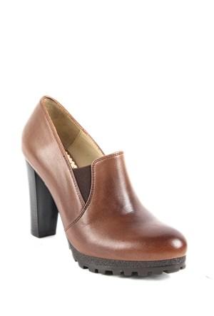 Gön Deri Kadın Ayakkabı 23137 Vizon Antik
