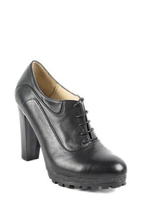Gön Deri Kadın Ayakkabı 23138 Siyah