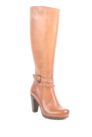 Gön Deri Kadın Çizme 43518 Taba Antik