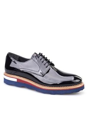 Cabani Oxford Günlük Erkek Ayakkabı Siyah Rugan