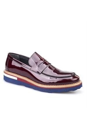 Cabani Oxford Günlük Erkek Ayakkabı Bordo Rugan