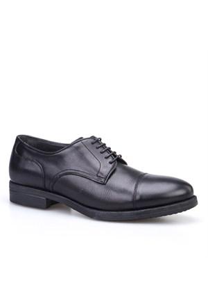 Cabani Bağcıklı Klasik Erkek Ayakkabı Siyah Deri