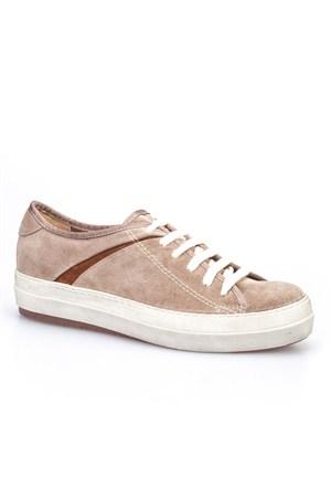 Cabani Bağcıklı Sneaker Kadın Ayakkabı Vizon Süet
