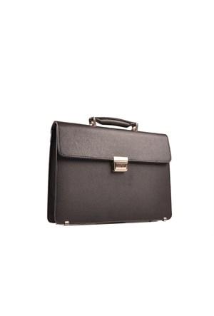 Pierre Cardin Kapaklı Kilitli Evrak Çantası Siyah Rz1114