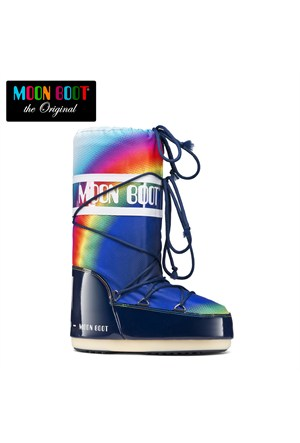 Moon Boot 14019600-001 Moon Boot New Rainbow 2.0 Multicolor- Blue