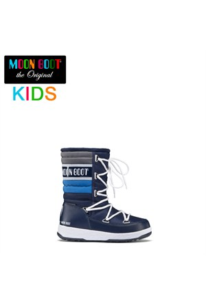 Moon Boot 34050700-002 Moon Boot W.E. Quilted Jr Navy-Royal-Silve