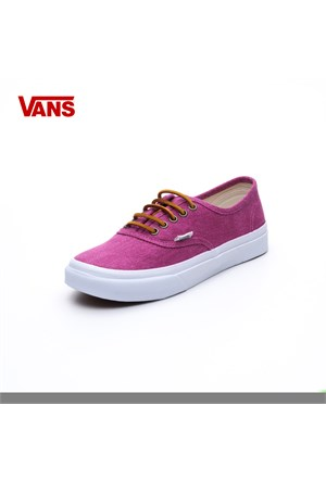Vans Vqevc7u Authentic Slim Washed Canvas Persian Red-T.White