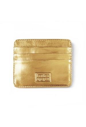 Leather&Paper Altın Deri Kredi Kartlık