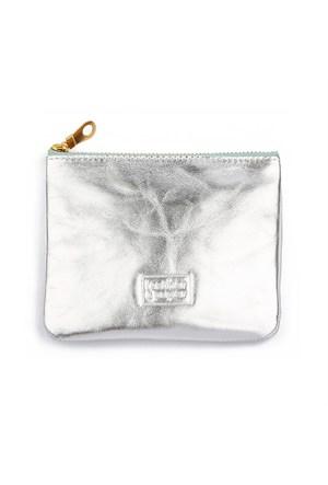 Leather&Paper Gümüş Deri Mini Çanta