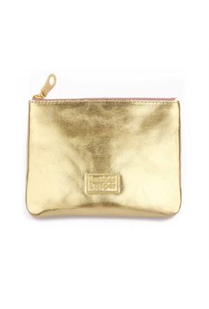 Leather&Paper Altın Deri Mini Çanta