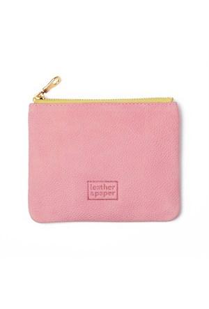 Leather&Paper Pembe Deri Mini Çanta