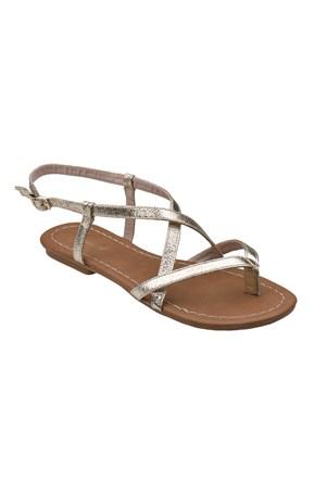 Polaris 61.308689.Z Altın Kadın Sandalet