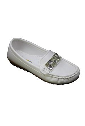 Mini Can F601 Günlük Çocuk Taşlı Babet Ayakkabı