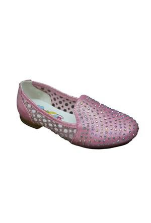 Mini Can P014 Günlük Çocuk Taşlı Babet Ayakkabı