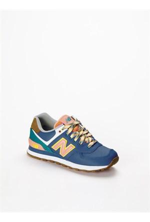 New Balance Lacivert Spor Ayakkabı WL574EXA