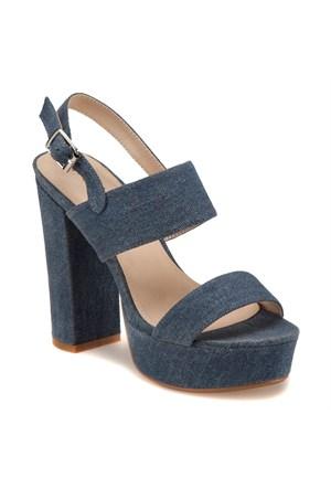 Miss F F18020 Mavi Kadın Sandalet