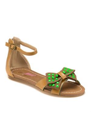 Winx 240887 Taba Yeşil Kız Çocuk Sandalet