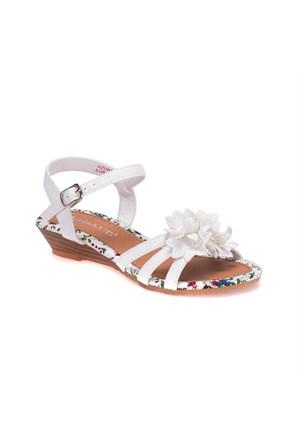 Pink Step 201588 Beyaz Kız Çocuk Sandalet