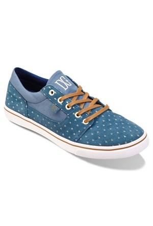 Dc Adjs300040 Blu Mavi Kadın Deri Sneaker