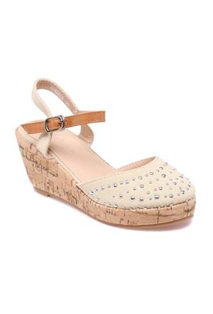 Pink Step Sementa Bej Kız Çocuk Sandalet