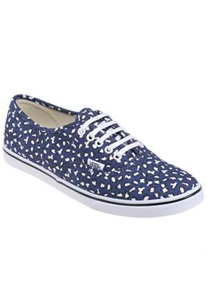 Vans Authentıc Lo Pro Mavi Beyaz Leopar Kadın Sneaker