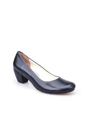 Cabani Kadın Ayakkabı Lacivert Deri