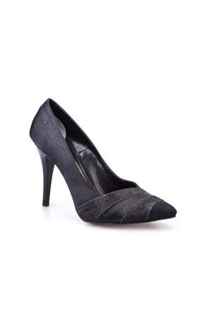 Cabani Tekstil Kadın Ayakkabı Siyah Saten