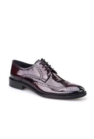 Cabani Bağcıklı Klasik Erkek Ayakkabı Bordo Açma Deri