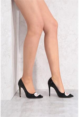 İlvi Lady Boss 16490 Siyah Rugan Stiletto