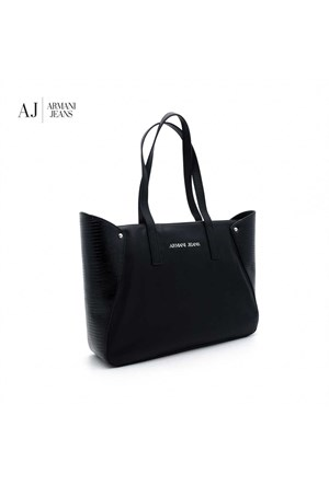 Armani Jeans Çanta B5263w512 Armani Shopping Bag Nero - Black