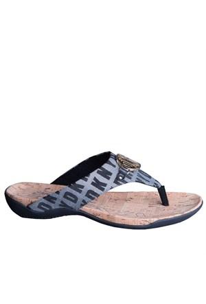 Dkny Bianca Hq Logo Jacquard 23150256 Kadın Ayakkabı Whıte Black