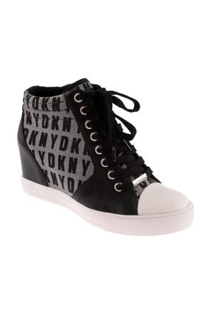 Dkny Cindy Hq Logo Jacquard 23157931 Kadın Ayakkabı Whıte Black