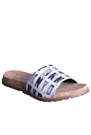 Dkny Slide Hq Floral 23156359 Kadın Ayakkabı Black Whıte