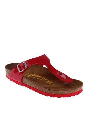 Birkenstock 845871 Kadın Terlik Red Rugan