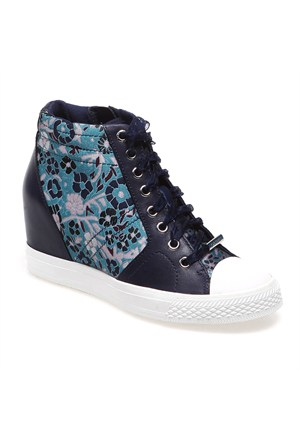 Dkny Womens Shoe Textile Upper Rubber Lowe 23447908 Kadın Ayakkabı Blue Multı