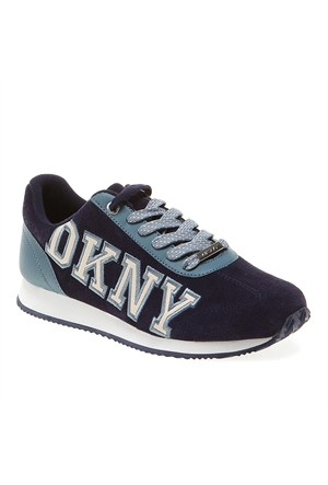 Dkny Jete Logo Varsity 23440322 Kadın Ayakkabı Mavi