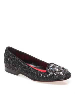Patty John Richmond 1839 Kadın Ayakkabı Glitter Nero Gross Nero
