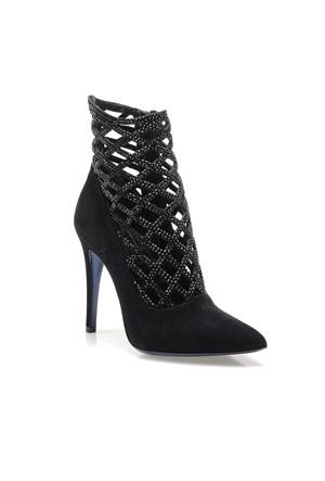 Loriblu Tronche 4iot9314Om3C01006Pj Kadın Ayakkabı Camoscıo Nero