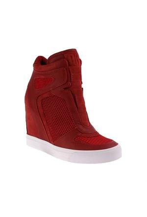 Dkny Grand Mesh/Soft Leather 23250456 Kadın Ayakkabı Brck Red/ Br. Flam