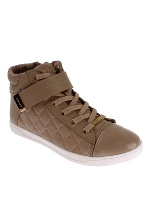 Dkny Betty Square Quilted Nappa Sheep Leather 23991658 Kadın Ayakkabı Lıght Taupe