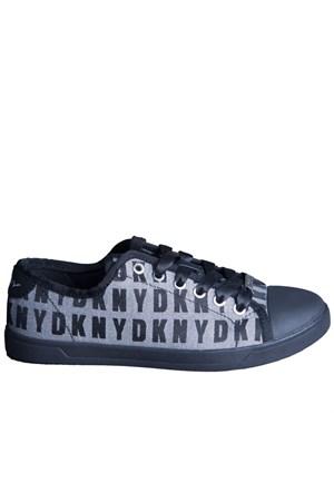 Dkny Blair Logo Hq Logo Jacquard 23990506 Kadın Ayakkabı Whıte Black