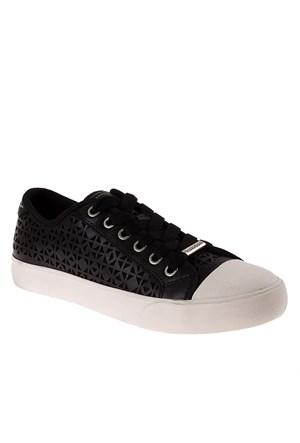 Dkny Barbara Small Triangle Perf Leather 23250689 Kadın Ayakkabı Siyah