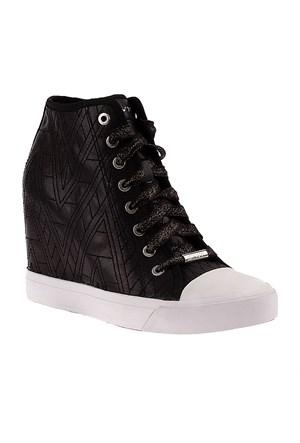 Dkny Grommet Zip Graphic Diamond Quilted Nappa 23250897 Kadın Ayakkabı Siyah