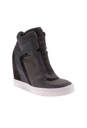 Dkny Grand Mesh/Stretch Heathered Jersey 23250459 Kadın Ayakkabı Cl Grey/ Charcoal