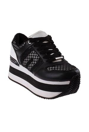 Dkny Jill Runway Soft Leather/Mesh 23256339 Kadın Ayakkabı Black Whıte