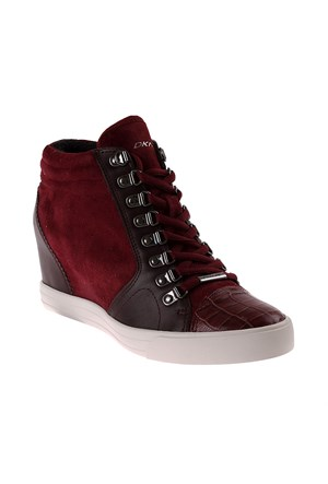 Dkny Soft Leather/Silky Sheep Suede 23352512 Kadın Ayakkabı Beet Red