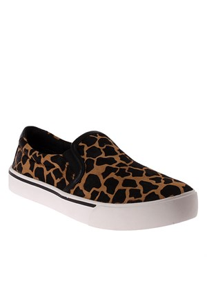 Dkny Giraffe Print Haircalf Leather 23355563 Kadın Ayakkabı Sable Black