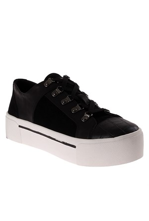 Dkny Silky Sheep Suede/Haircalf Leather 23353418 Kadın Ayakkabı Siyah