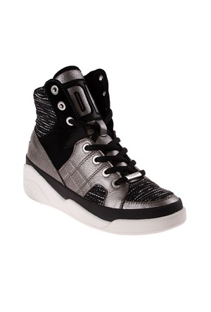 Dkny Modern Tweed Fabric/Pebbled Metallic 23353619 Kadın Ayakkabı 018 Black Whıte