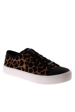 Dkny Giraffe Print Haircalf Leather 23355919 Kadın Ayakkabı Sable Black